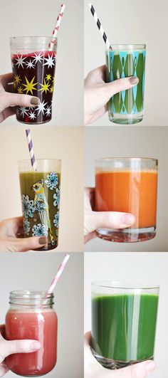 Six fresh juice recipes! #healthy