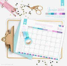Good Monday! con tu Calendario Mensual de Junio, para descargar GRATIS!