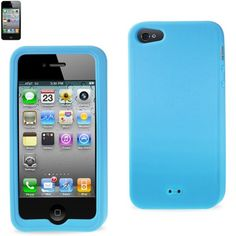$14.50 Reiko Slim Soft Silicone Case For Apple iPhone 5s / Apple iPhone 5, with open small holes on the back of the case, for easy lanyard attachment.