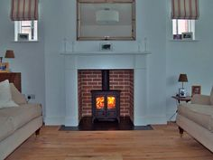 Bespoke MDF mantel with slate tiled hearth, brick chamber and new build pumice lined chimney. Fitted in Chalkwell Essex 2011