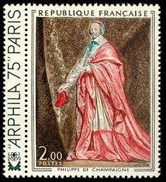 Cardinal de Richelieu Tableau de Philippe de Champaigne ARPHILA 75 - Timbre de 1974