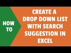 Learn how to create an Excel drop down that shows suggestions as you type. A step-by-step tutorial to create an Excel Drop Down List with Search Suggestions Drop Down List, Microsoft Excel, Entrepreneur, Tutorials, Type, Learning, Create, Search, Youtube