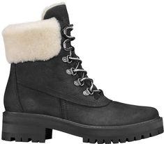 Timberland Women's Courmayeur Valley Shearling Winter Boots Good Snow Boots, Best Winter Boots, Snow Boots Women, Winter Shoes, Black Winter Boots, Winter Clothes, Winter Wear, Grunge Style, Soft Grunge