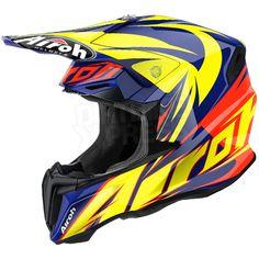 2016 Airoh Twist Helmet Evil Blue Gloss
