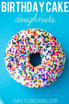 Skip the boring birthday cake and serve delicious, easy and adorable vanilla birthday cake doughnuts instead!