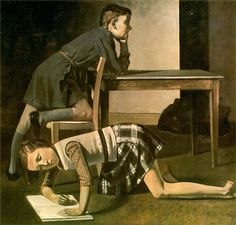 Balthus (1908 - 2001) Balthasar Klossowski de Rola, aka Balthus: esteemed but controversial Polish-French modern artist. Throughout his career, Balthus rejected the usual conventions of the art world. http://www.wikipaintings.org/en/balthus