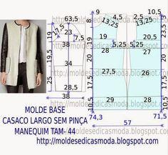 Moldes Moda por Medida: MOLDE DE CASACO