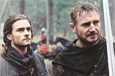Reimaginings of the Middle Ages and More Orlando Bloom as Balian de Ibelin and Liam Neeson as Godfrey de Ibelin in Kingdom of Heaven (2005), a 12th century period drama directed by Ridley Scott.