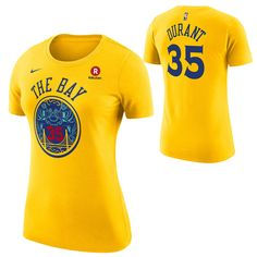 Golden State Warriors Nike Dri-FIT Women s City Edition Kevin Durant  35  Chinese Heritage Game Time Name   Number Tee - Gold. Warriors Stephen CurryNike  ... 45441df5fbd