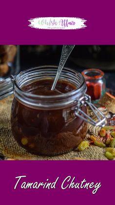 Indian Chutney Recipes, Indian Dessert Recipes, Sweet Chutney Recipe, Chaat Recipe, Bhel Puri Recipe Video, Tamarind Chutney, Tamarind Sauce, Tastemade Recipes, Summer Drink Recipes