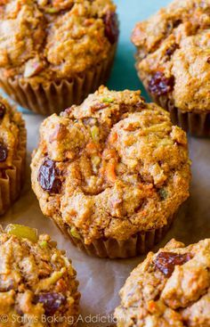 Sally's Baking Addiction Simple Morning Glory Muffins-- like carrot cake and spiced apple cake... for breakfast!