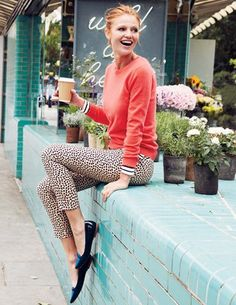 Everything about this screams happy.  @BodenClothing Cashmere Crew Neck Sweater