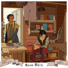 """cassandraclare: """"Alexander was just having a nice chat with the woodland creatures when a handsome prince stopped by to warn him about the dangers of apples … 🍎 🍎 🍎 Magnus and Alec find themselves in Snow White in Cassandra Jean's xmas. Cassandra Jean, Cassandra Clare Books, Character Inspiration, Character Art, Character Design, Fanart, Cassie Clare, Shadowhunters The Mortal Instruments, The Dark Artifices"""
