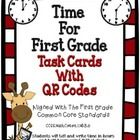 Time For First Grade - QR Codes  Time - This is a set of 24 task cards for students to use while learning about telling time. These task cards practice the skill of telling time to the hour and the half hour.     The task cards were created using the Common Core Standards and The TEKS (Texas Essential Knowledge and Skills).