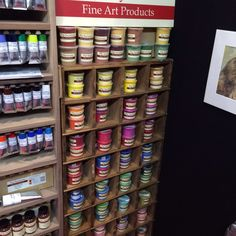 Pip Seymour pigments, as showcased at the Excel Centre in November. Beautiful. Mix them into your own paints with their binders.