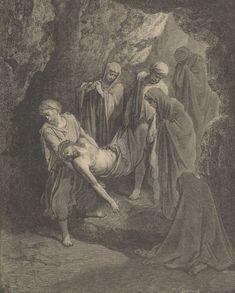 gustave dores illustration burial of jesus woodcut Gustave Dore, Catholic Art, Religious Art, Catholic Theology, Bible Illustrations, Illustration Art, Jesus E Maria, Biblical Art, Historical Art