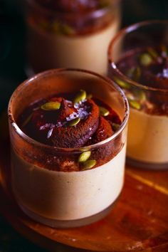 Vegan Masala Chai Pumpkin Pudding w/Dark Chocolate Ganache Swirls | Hello My Dumpling (gluten-free, refined sugar free)