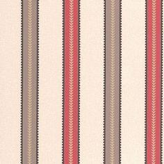 Sample Harvest Striped Wallpaper in Red design by Graham & Brown