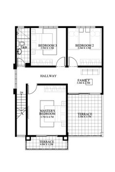 Dexter model second floor plan