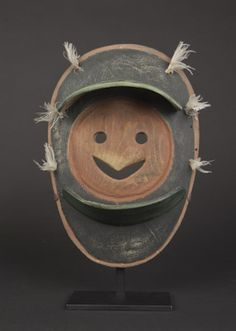 Yup'ik Articulated Mask  Eskimo, Alaska  Carved wood and pigments  19th century  Height: 11 ¾ in.  Ex collection Jeffrey Myers, New York