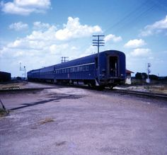 A Texas Eagle passenger unit - this car is in the later Jenk's Blue scheme of the '60's. Milano, TX, 7/70 - © Brian Paul Ehni photo.