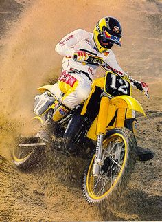 """Mike """"Too Tall"""" Bell on the 1984 Yamaha YZ250 