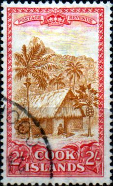 Cook Island 1949 Map and Statue of Captain Cook SG 157 Fine Mint Scott 138  Other Cook Island Stamps HERE