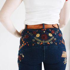 Embroidered denim next level