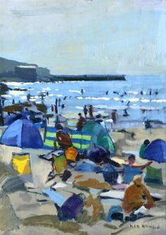 Ken Howard - Figures on Beach - Cornwall, c. 2010