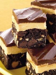 chocolate peanut butter fudge bars...
