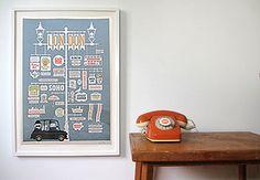 London Poster (artist proof) by Jim Datz