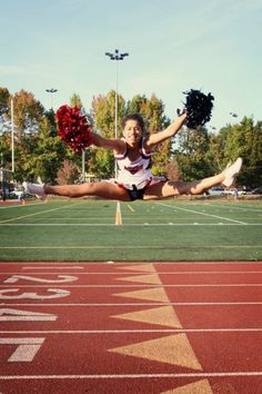 Toe touch cheer.