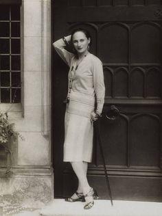 Anna Pavlova at the door of Ivy House, 1927.