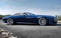 When the Mercedes-Maybach cabriolet 6 was introduced at the Monterey Car Week in California people could help but stare in awe. When the Mercedes-Maybach cabriolet 6 was introduced at the Monterey Mercedes Maybach, Van Mercedes, Cabriolet, Car Engine, Us Cars, Car Shop, Pebble Beach, Electric Cars, Electric Vehicle