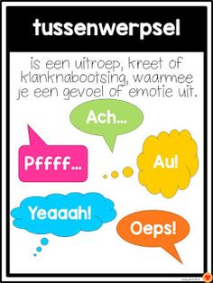 Juf-Stuff: Posters woordsoorten School Hacks, Learning Quotes, Fun Learning, Afrikaans Language, Learn Dutch, School Posters, Poster S, Study Tips, Texts