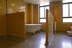 BATH TUB ROW ~ Bath House ~ Excelsior Springs, Missouri USA ~ Copyright ©2012 Bob Travaglione ~ www.FoToEdge.com