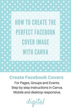 Canva tip: Create the perfect Facebook cover for Pages, Groups & Events