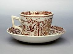Child's tea service: cup and saucer ENGLISH, STAFFORDSHIRE (ENGLISH) C. 1890