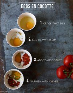 Oeufs en Cocotte or Baked Eggs in Pots