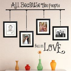 All Because Wall Decal Set