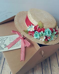Custom made boater hat // Canotier personalizado