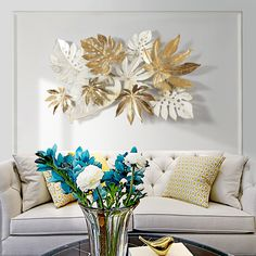 Ins Nordic Wrought Iron Wall Hanging Leaves Wall Decoration Crafts Home Sofa Background Stereo Wall Sticker Mural Accessories-in Wall Stickers from Home & Garden on AliExpress - Day Cheap Wall Stickers, Wall Stickers Murals, Art Wall Kids, Diy Wall Art, Metal Wall Decor, Metal Wall Art, Iron Wall Art, Decor Crafts, Home Crafts