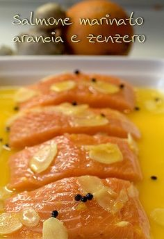 Salmone marinato arancia e zenzero in 2020 Cena Light, Cooking Recipes, Healthy Recipes, Antipasto, Light Recipes, Diet And Nutrition, I Love Food, Finger Foods, I Foods