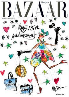 Lanvin + Harpers Bazaar Australia 15th anniversary cover