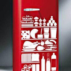 Kitchen Vinyl Stickers Food Refrigerator Decor on Exterior Design