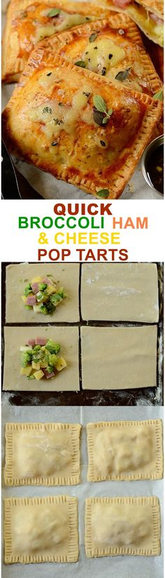 These Broccoli, Ham and Cheese Pop Tarts make the most delicious and comforting quick meal or snack on the go... including for back to school.