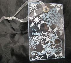 gift tags made from acrylic sheets