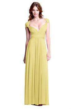 Sakura Butter Yellow Maxi Convertible Dress - Sakura - Convertible Dresses - Shop ConvertiStyle