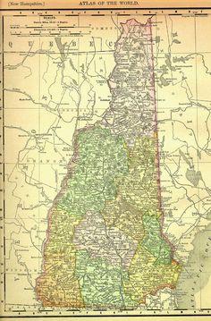 New Hampshire 1895 atlas