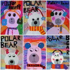 Northern lights polar bears - ART project -